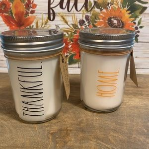 Rae Dunn Accents - Set of 2 Rae Dunn 6.5oz jar candles.